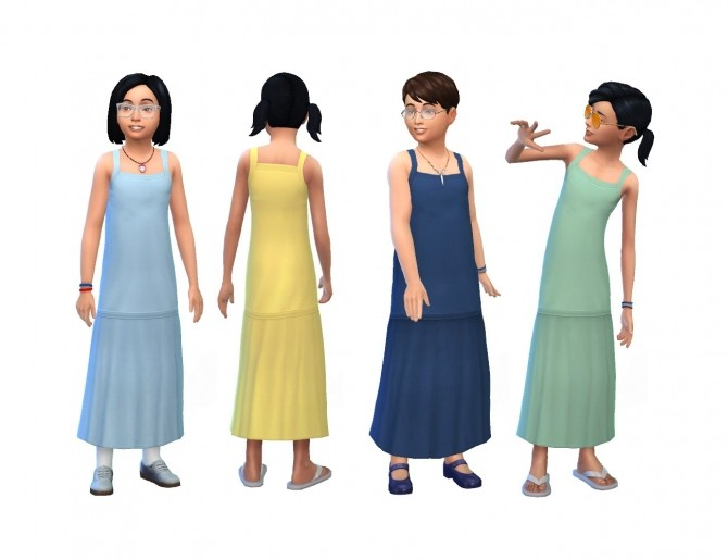 Long Dress for Children by plasticbox at Mod The Sims image 11214 670x515 Sims 4 Updates