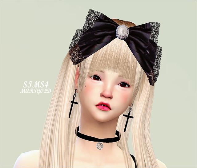 Big lace bow head band at Marigold image 1124 Sims 4 Updates
