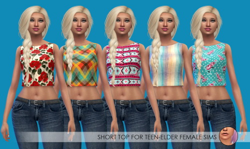 Sims 4 10 Short Tops at Erica Loves Sims
