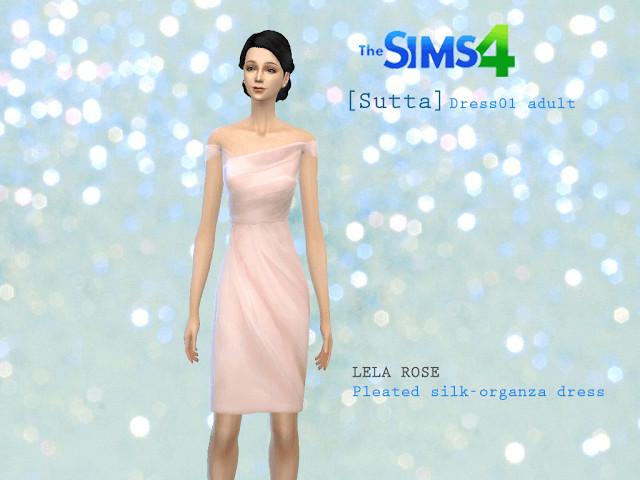 Sims 4 Lela Rose dress at Sutta Sims4