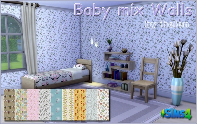 Sims 4 Baby mix walls at ihelensims