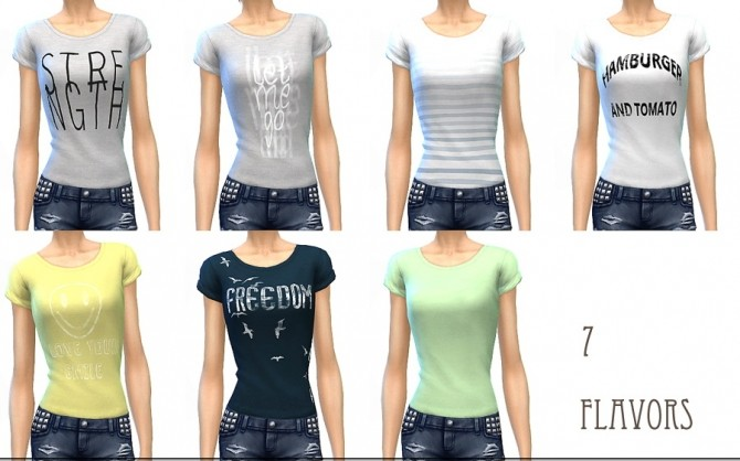Sims 4 Simple t shirts at ChiisSims – Chocolatte Sims