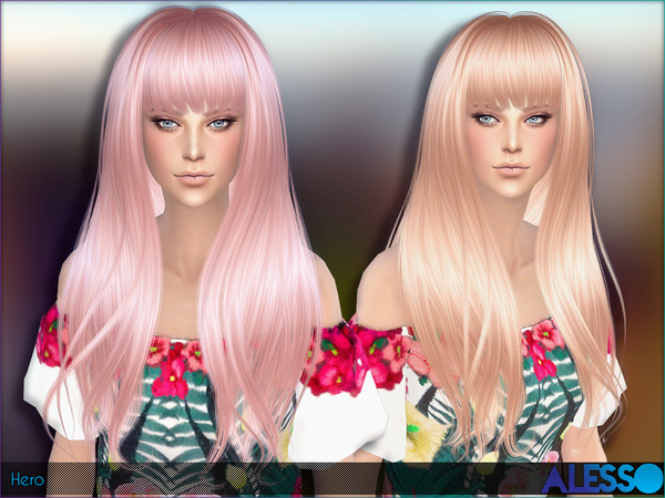 Hero hair by Alesso at TSR image 1159 Sims 4 Updates