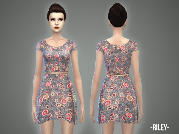 Riley dress by April at TSR image 1170 Sims 4 Updates