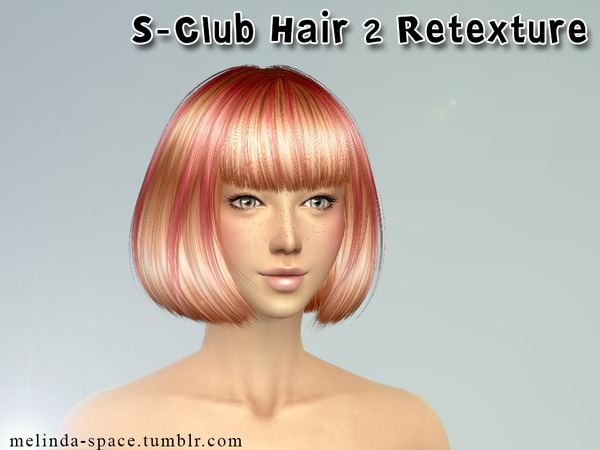 S Club Hair 2 Retexture by Melinda at Sims Fans image 11710 Sims 4 Updates