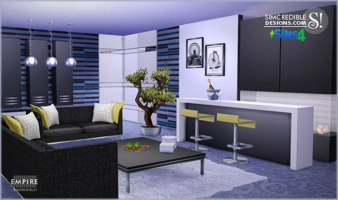 Simcredible Designs 187 Empire Livingroom 187 Sims 4 Updates