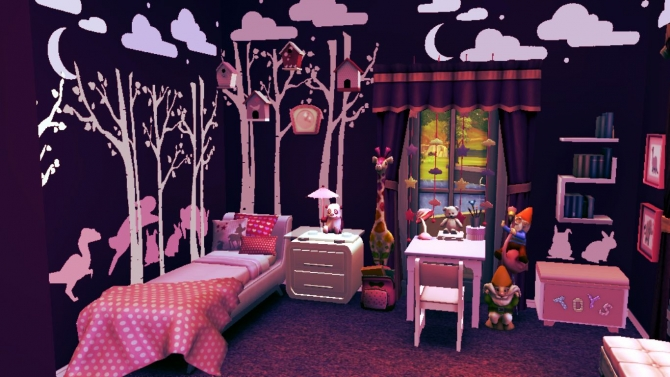 Purple Kidsroom For Girls At Sanjana Sims 187 Sims 4 Updates