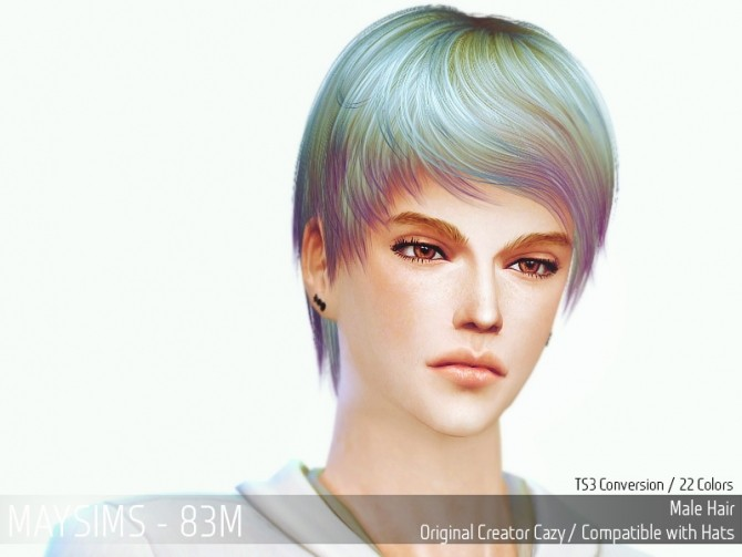 Hairstyles Updates: Hair 83M At May Sims » Sims 4 Updates