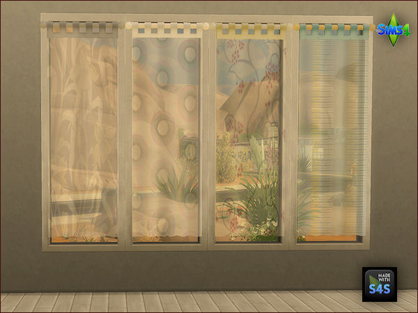 4 curtain sets by Mabra at Arte Della Vita image 1192 Sims 4 Updates