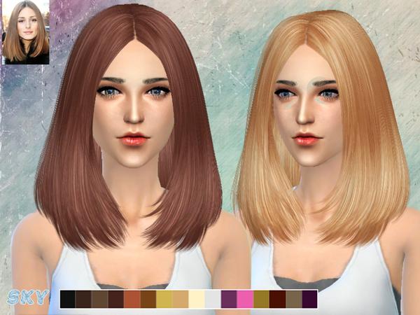 Sims 4 Lisa Hair 269 by Skysims at TSR