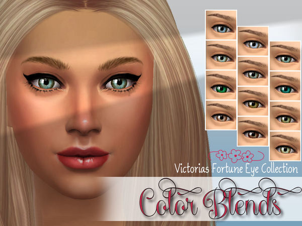 Sims 4 Color Blend Eye Collection by fortunecookie1 at TSR
