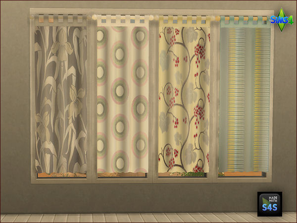 4 curtain sets by Mabra at Arte Della Vita image 1202 Sims 4 Updates