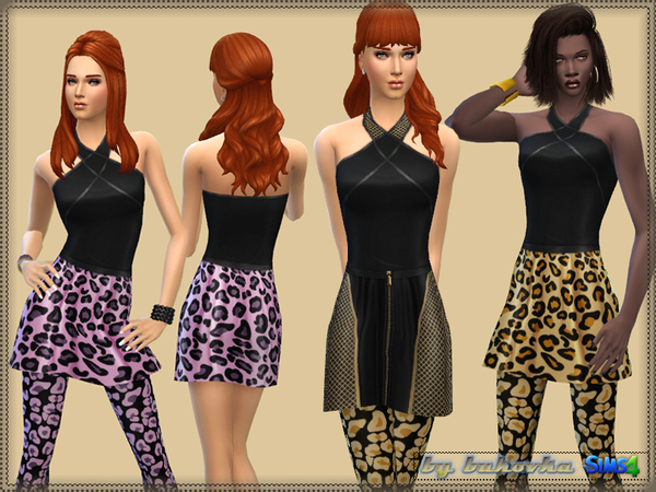 Color Leopard & Grid by bukovka at TSR image 12102 Sims 4 Updates