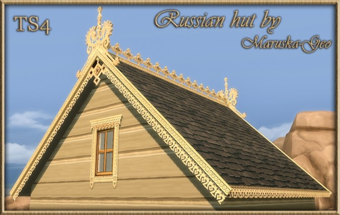 Russian hut Outdoor decor at Maruska Geo image 1218 670x425 Sims 4 Updates