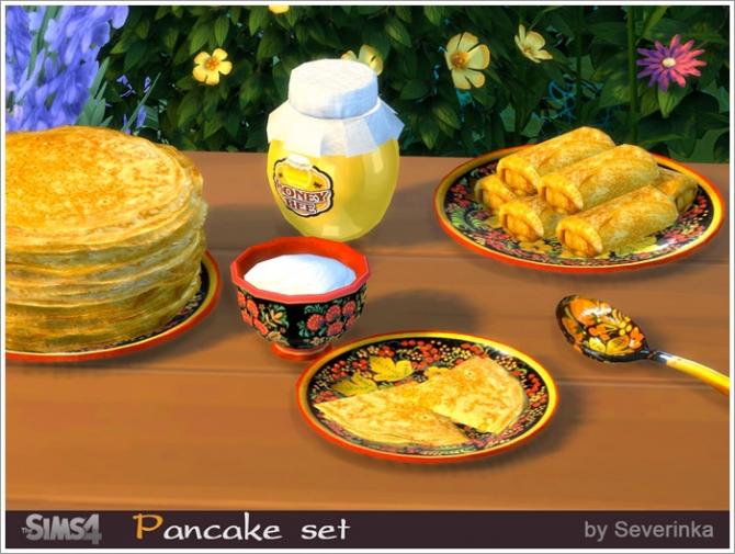 Pancake Set At Sims By Severinka 187 Sims 4 Updates