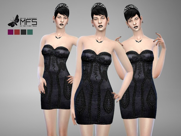 MFS Jenna Dress by MissFortune at TSR image 1278 Sims 4 Updates