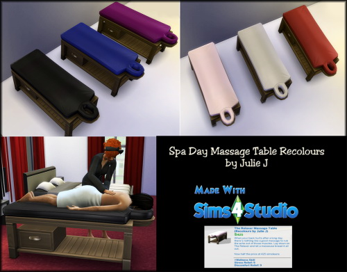 Spa Day Massage Table Recolours at Julietoon – Julie J image 12813 Sims 4 Updates