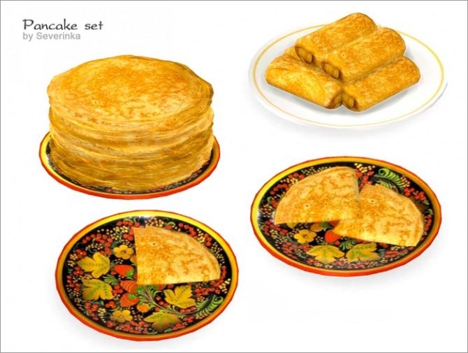 Pancake set at Sims by Severinka image 129 670x505 Sims 4 Updates