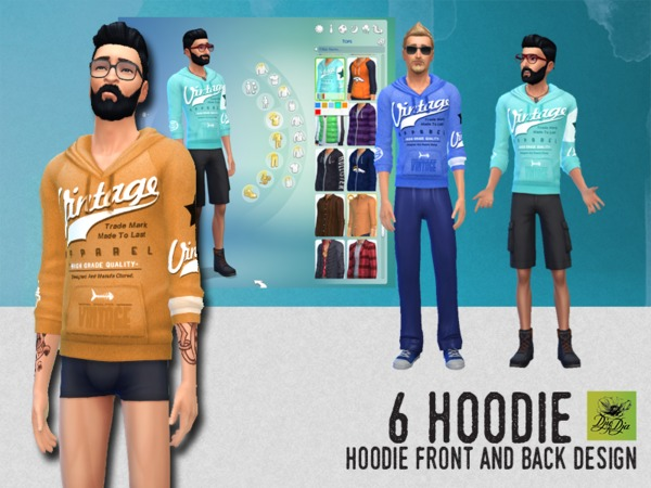 Sims 4 Male Hoodie by djurdja1 at TSR