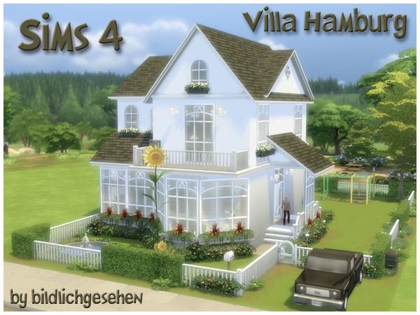 Villa HAMBURG (no cc) by Bildlichgesehen at Akisima image 131 Sims 4 Updates