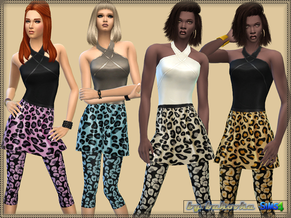 Color Leopard & Grid by bukovka at TSR image 13101 Sims 4 Updates