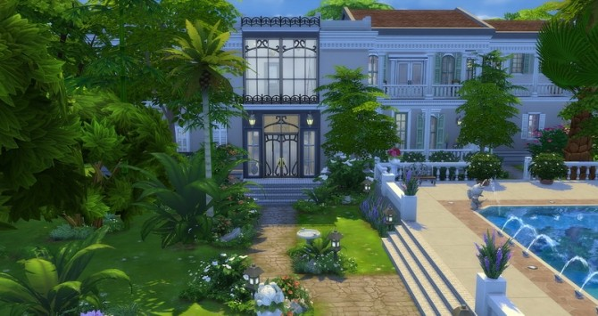 Sims 4 Mayfair house by Angerouge at Studio Sims Creation