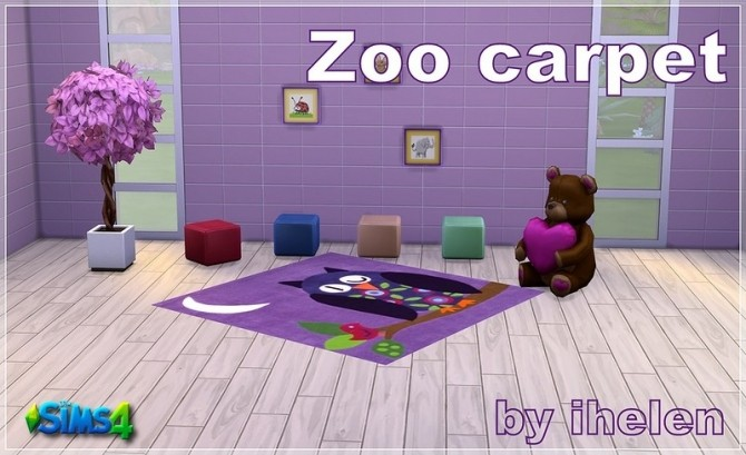 Zoo carpet at ihelensims image 13615 670x409 Sims 4 Updates