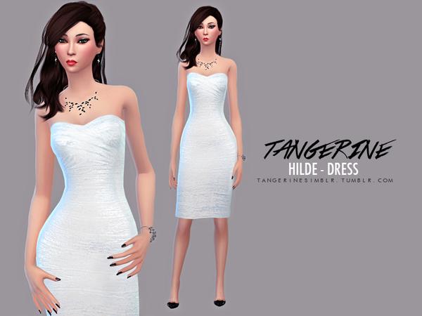 Sims 4 Hilde dress by tangerinesimblr at TSR