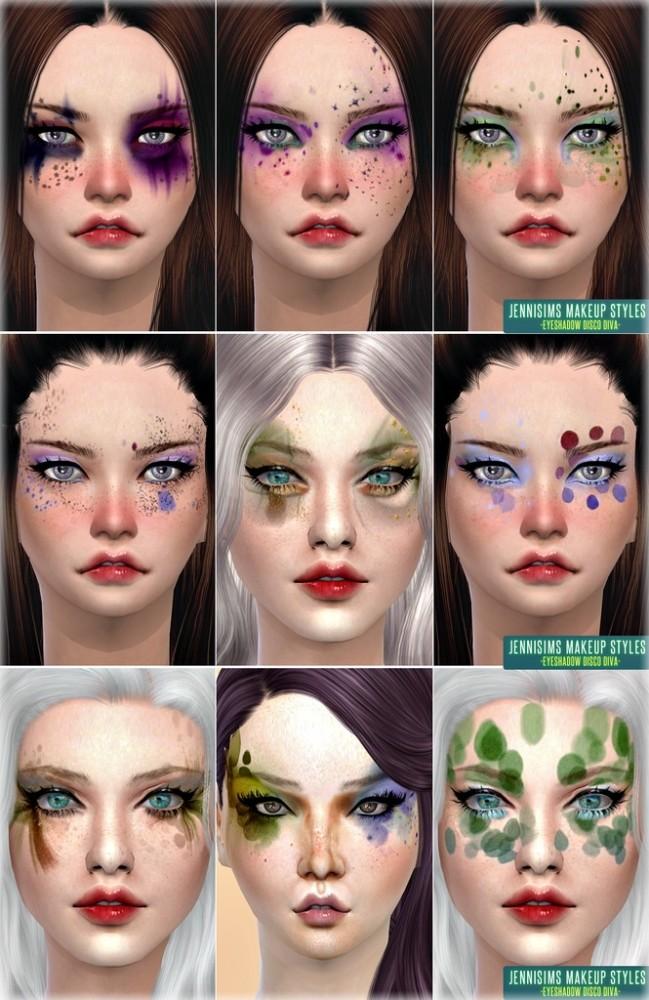 Sims 4 Makeup Styles Disco Diva Fantasy EyeShadow at Jenni Sims