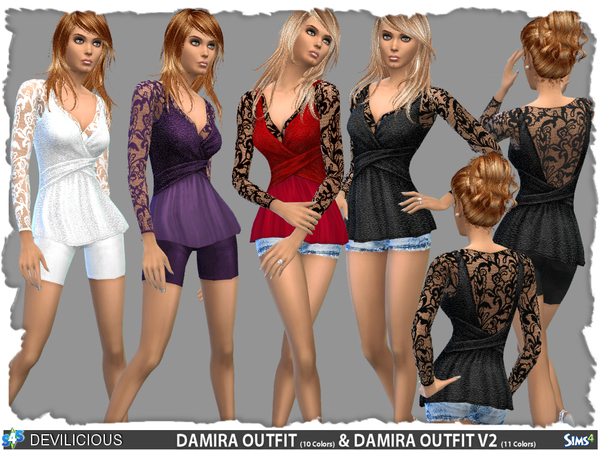 Damira Outfit Set by Devilicious at TSR image 1387 Sims 4 Updates