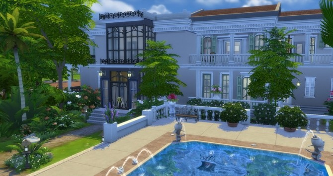Mayfair house by Angerouge at Studio Sims Creation image 1389 670x355 Sims 4 Updates