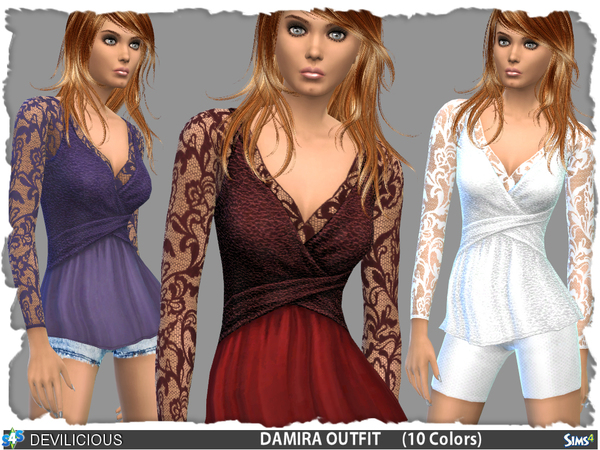 Damira Outfit Set by Devilicious at TSR image 13910 Sims 4 Updates