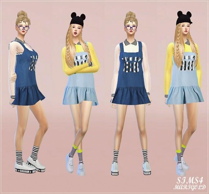 Sims 4 Mesh shirts & 88 dress at Marigold