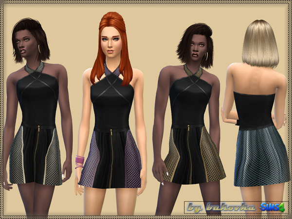Sims 4 Color Leopard & Grid by bukovka at TSR