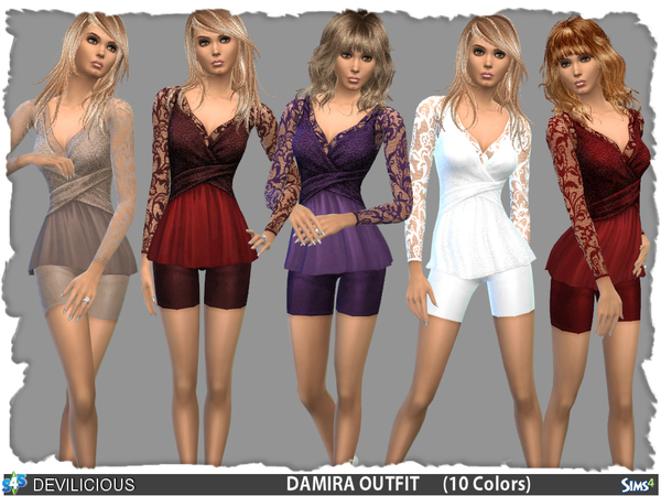 Damira Outfit Set by Devilicious at TSR image 14113 Sims 4 Updates