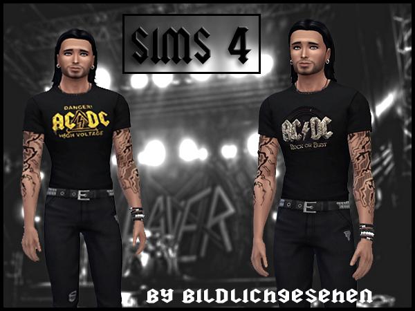 Sims 4 Heavy Metal t shirts Part III at Akisima