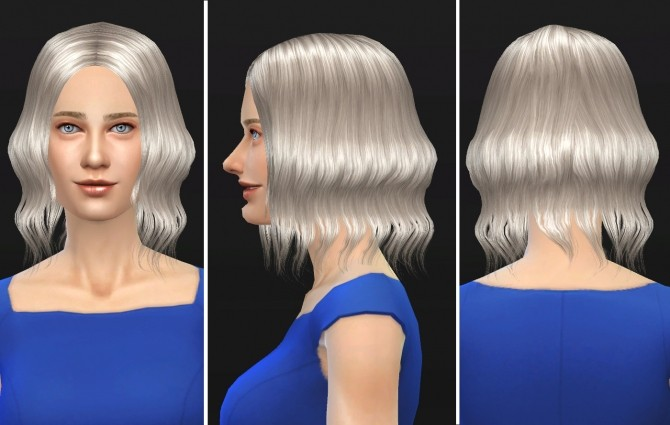 Sims 4 Eleina female hair at Lunararc