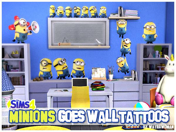 Sims 4 Minions goes Walltattoos at Akisima