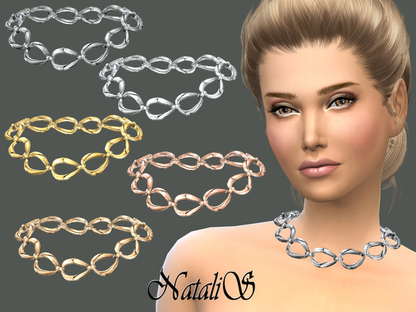 Sims 4 Metal chain necklace by NataliS at TSR