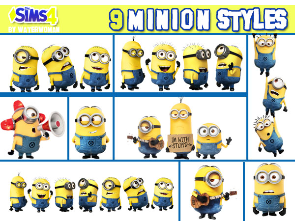 Minions goes Walltattoos at Akisima image 1473 Sims 4 Updates