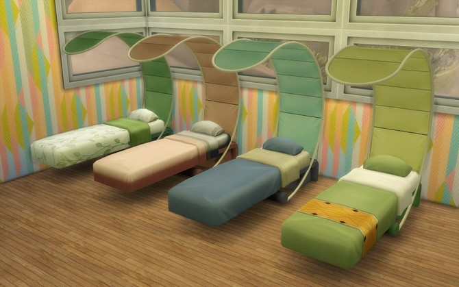 Ts2 to ts4 slim system bed by loolyharb1 at mod the sims for Sofa bed sims 4