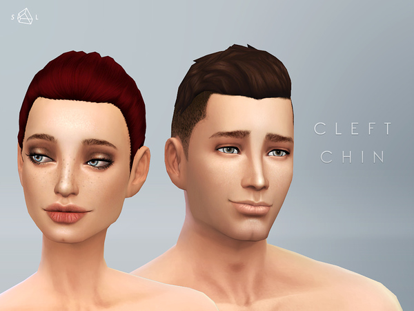 Sims 4 Cleft Chin by starlord at TSR