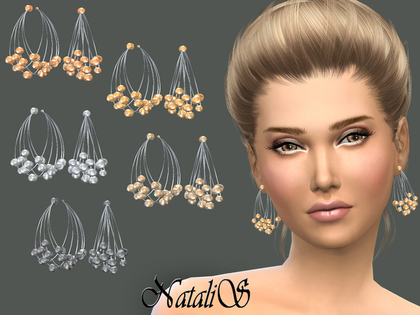 Multilayer metal wire earrings by NataliS at TSR image 1507 Sims 4 Updates