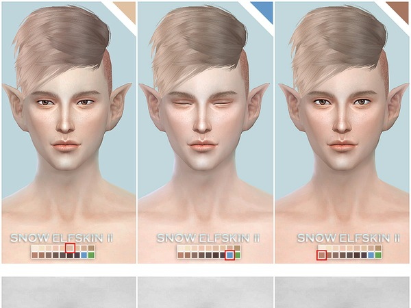 Snow Elf skintones all age II by S Club at TSR image 15102 Sims 4 Updates
