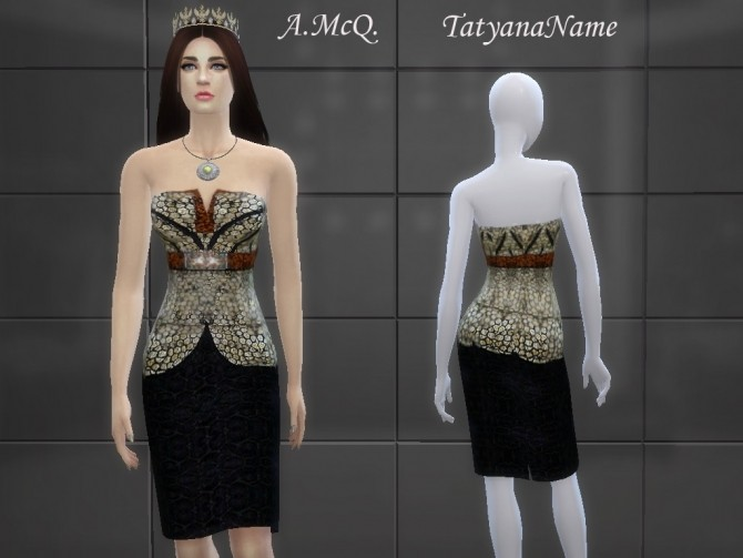 Designer Dress at Tatyana Name image 1511 670x503 Sims 4 Updates