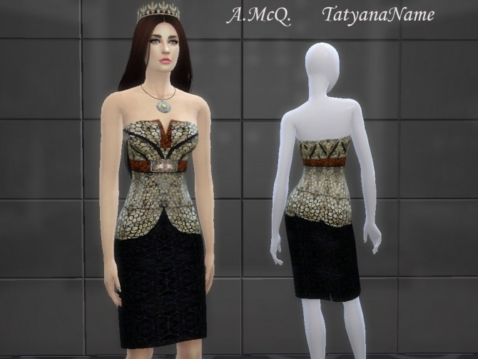 Designer Dress at Tatyana Name image 1521 670x503 Sims 4 Updates