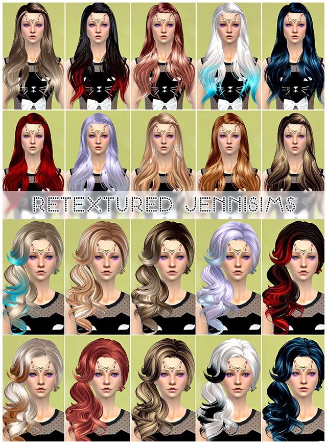Sims 4 Sets of SkySimss hair retextures at Jenni Sims
