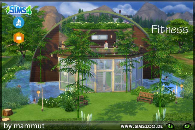 Sims 4 Vegie Fit Fitness center by mammut at Blacky's Sims Zoo