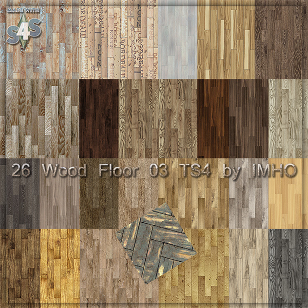 26 Wood Floor 03 TS4 By IMHO At IMHO Sims 4 » Sims 4 Updates