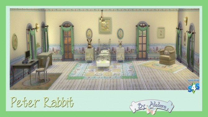 PETER RABBIT deco set at Alelore Sims Blog image 1532 670x377 Sims 4 Updates